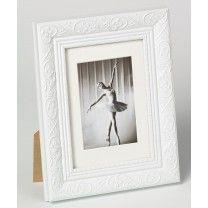 Cadre Photo Baroque Blanc 13x18 avec support