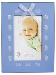 Cadre photo de Bébé avec noeud papillon bleu