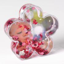 Sphère de neige Fleur Rose