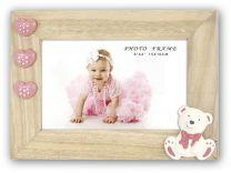 Cadre Photo Bébé Patty Rose avec un forme d'ours