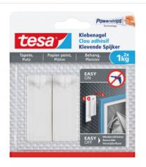 TESA 2 clous adhésifs à fixer Smart mounting system, blanc 2 kg